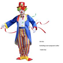 Holiday Variety Funny Clown Cospaly Costume Adult Man Clown Suit Halloween Masquerade Carnival Party Dress(China)