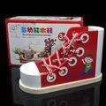 Envío gratis cordones de zapato de bebé, juguetes educativos para niños de madera del zapato, a principios de la ilustración toy formación zapatos de madera