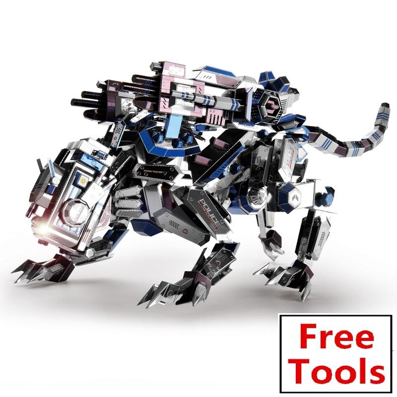 Microworld 3D bricolage assembler métal militaire Puzzle mécanique Police chien modèle Puzzle éducatif Puzzle laser coupé jouet pour enfant