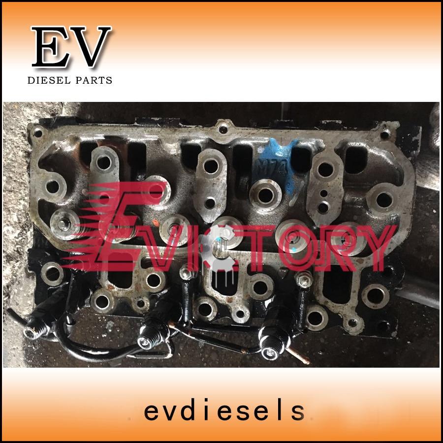 Otomobiller ve Motosikletler'ten Pistonlar  Halkalar   Çubuklar ve Parçaları'de Yanmar mini motor 3TNM74 silindir kafası assy orijinal kalite title=