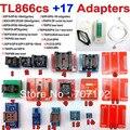 Tl866cs TL866 TL866CS + 17 adaptadores programador de alta velocidade USB AVR PIC Bios 51 MCU EPROM Flash programador russo inglês Manual