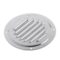 1 stainless steel 1 Pcs Stainless Steel Air Vent Grille Ventilation Louver Round Shaped Venting Mesh Louver Grille For Boat Yacht Caravans RV Etc (4)