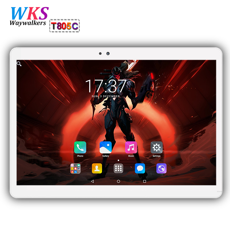 waywalkers T805C 10 inch tablet PC Octa Core Android 7.0 4GB RAM 64GB ROM 8 Core Dual SIM Card Call phone Gifts MID Tablets 10.1 created x8s 8 ips octa core android 4 4 3g tablet pc w 1gb ram 16gb rom dual sim uk plug