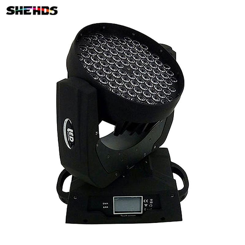 купить LED Wash Moving Head Light 108X3W RGBW LED Stage Lighting DJ Disco Lighting DMX Sound Professional Stage Light for Event/wedding онлайн
