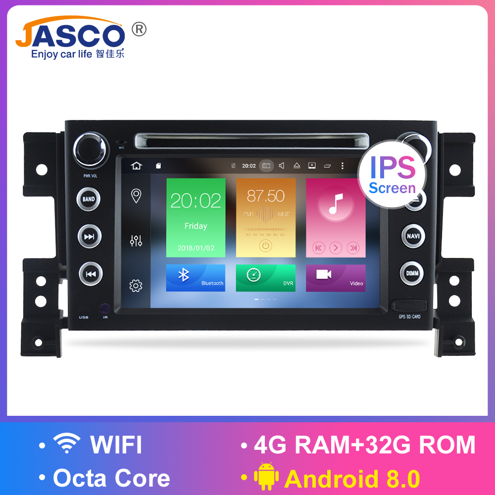 Octa Core Android 8.0 Car Radio GPS Navigation Multimedia Player Stereo For Suzuki Grand Vitara 2006 2007 2008 2009  Auto Audio