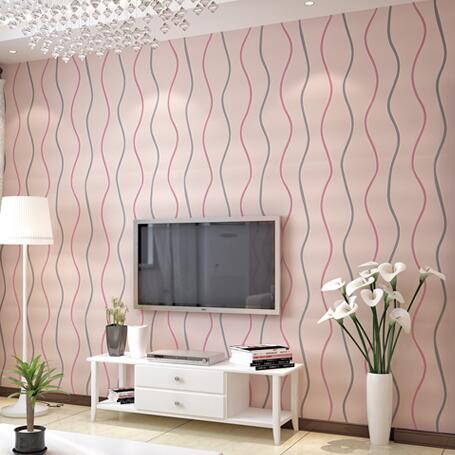 Red wallpaper designs for living room beautiful red and for Pink living room wallpaper