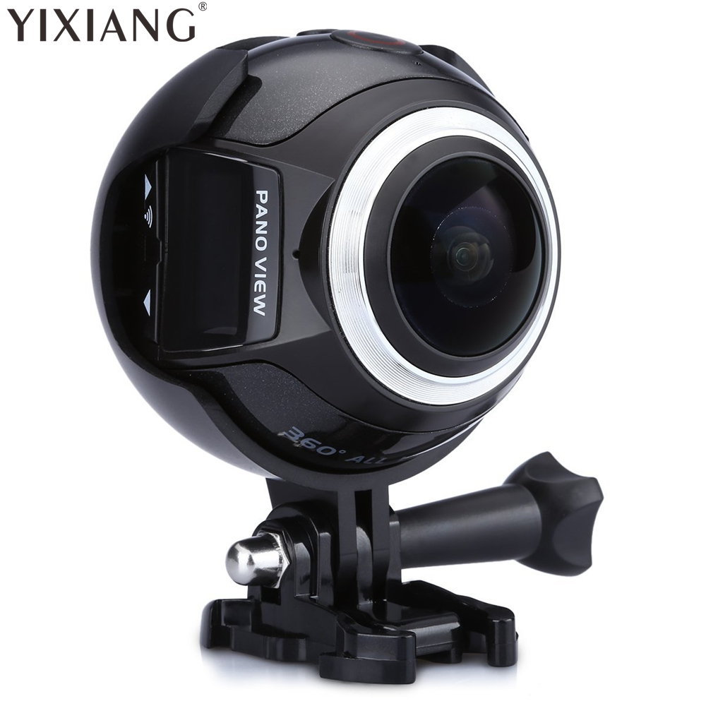 YIXIANG V1 WIFI 3K 30FPS 16MP Sport Action Camera 360 Degree Ultra HDMI HD Output Mini Panoramic Video 3D VR Camera with Mult soocoo 360 degree action video camera wifi 4k 24fps 2 7k 30fps ultra hd sport driving 360 camera with remote control