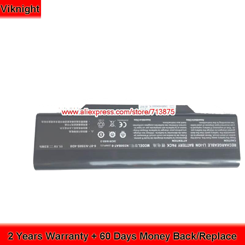 Origianl Clevo 6-87-N350S-4D7 6-87-N350S-4D8 N350BAT-6 N350BAT-9 Laptop Battery clevo 6 87 w130s 4d72 w130hubat 6 battery for clevo w255cew 6 87 w130s 4d71 6 87 w130s 4d7 w130hubat6 battery 11 1v 5600mah
