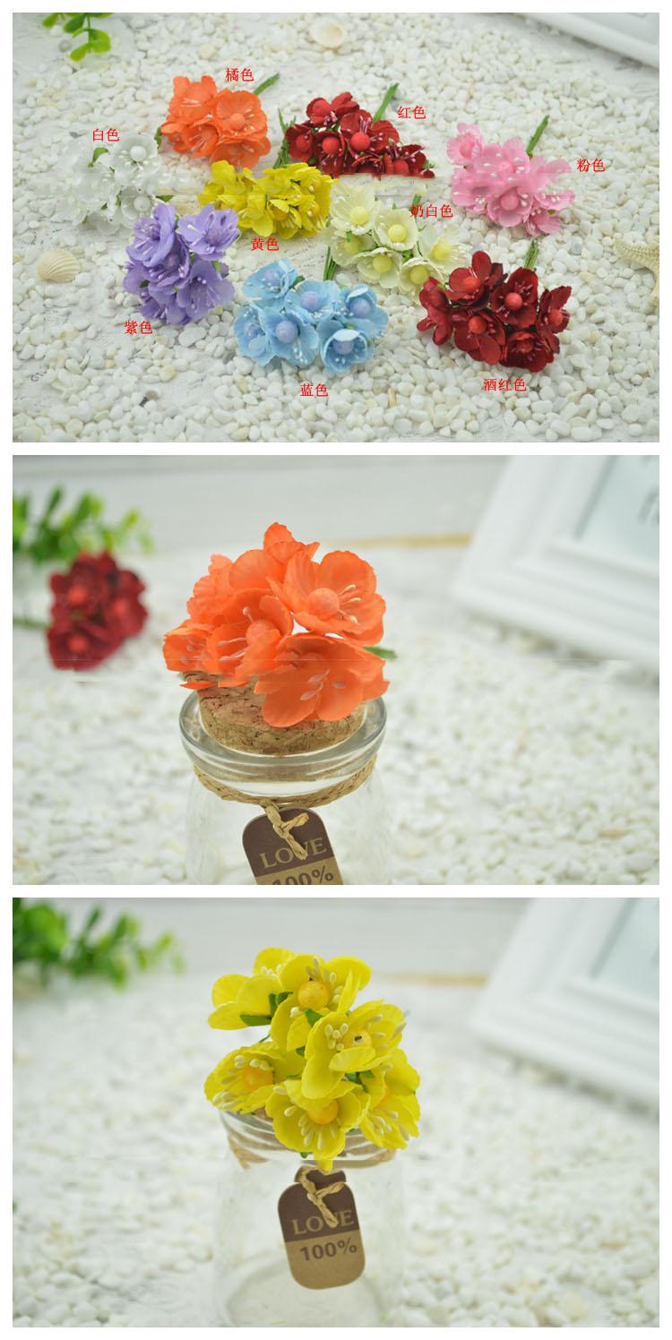 Artificial Flowers Good Simulation Rattan Flower Cherry Plum Silk