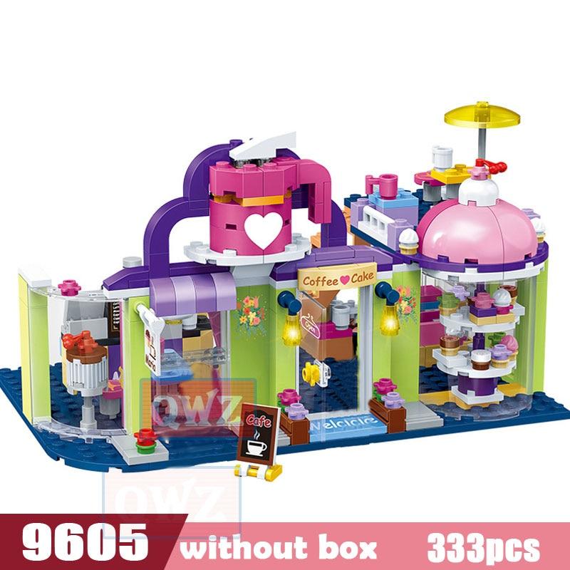 Legoes город девушка друзья большой сад вилла модель строительные блоки кирпич техника Playmobil игрушки для детей Подарки - Цвет: 9605 without box
