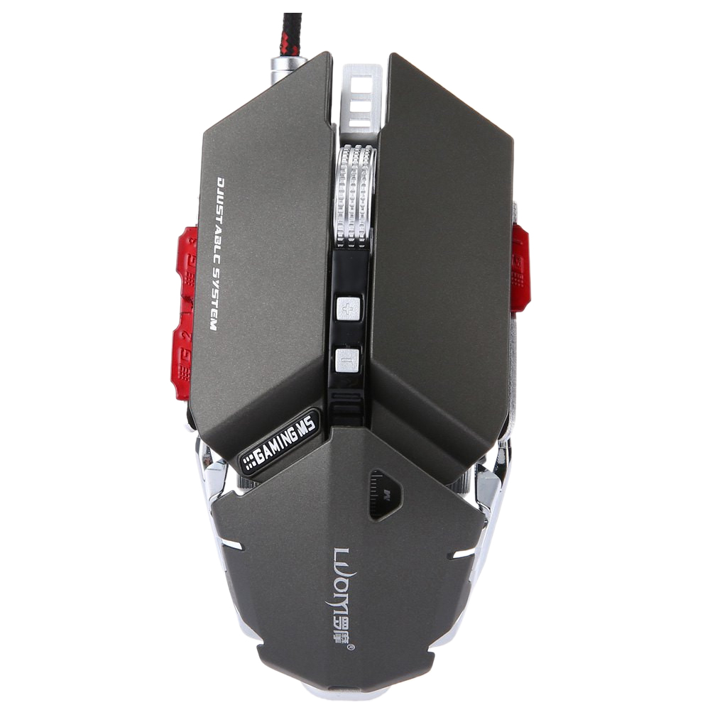 все цены на LUOM G50 Wired Programmable 10 Buttons 4000 DPI Professional Optical Mechanical Ergonomics Gaming Mouse, Gray