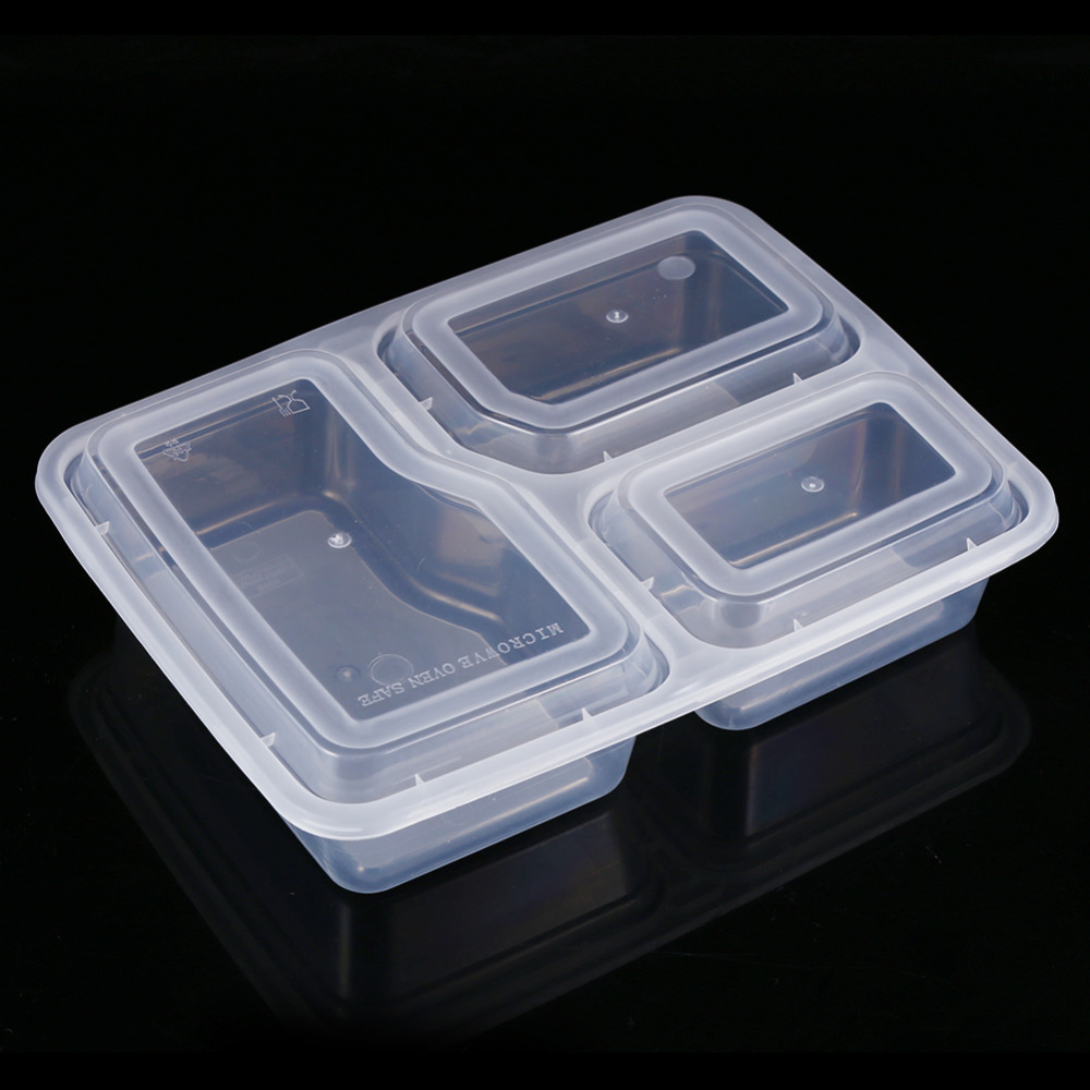 10Pcs Plastic Food Storage Containers W Lid Stackable Microwave and