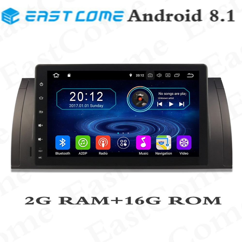 HD 9 inch Android 8.1 Quad 4Core Car DVD Player For BMW 5 Series <font><b>X5</b></font> <font><b>E53</b></font> E39 E39 M5 GPS Navigation Radio Stereo BT WIFI image