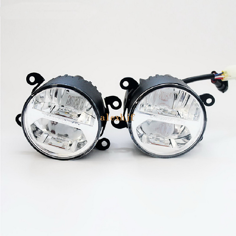 Yeats 1400LM 24W LED Fog Lamp, High / Low beam + 4W 560LM DRL Case For Mitsubishi Outlander L200 Triton Sportero etc, yeats 1400lm 24w led fog lamp high beam low beam 560lm drl case for toyota highlander 2009 11 2014 automatic light sensitive