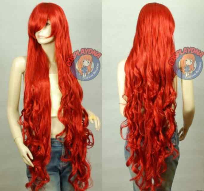 Парик 150 см волнистые вьющиеся красные волосы здоровые косплей парик Бесплатная доставка