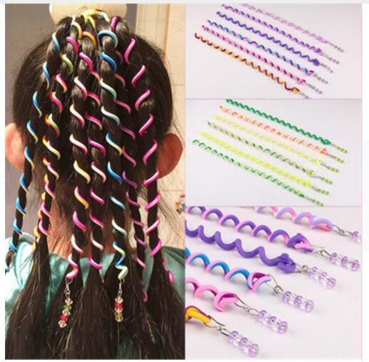 1Pcs Random Color Rainbow Color Headband Cute Girls Hair Band Crystal Long Elastic Hair Bands   Headwear   Hair Accessories