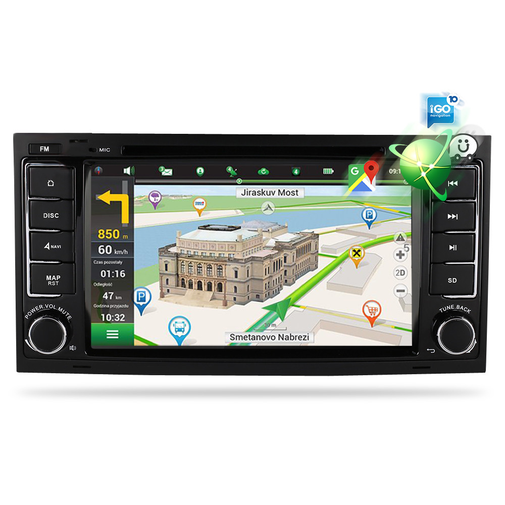 Image 3 - Octa Core Android 9.0 Car Video DVD Player For Volkswagen Touareg/T5 2004 2011 FM Radio GPS Navigation Multimedia Stereo 4G RAM-in Car Multimedia Player from Automobiles & Motorcycles