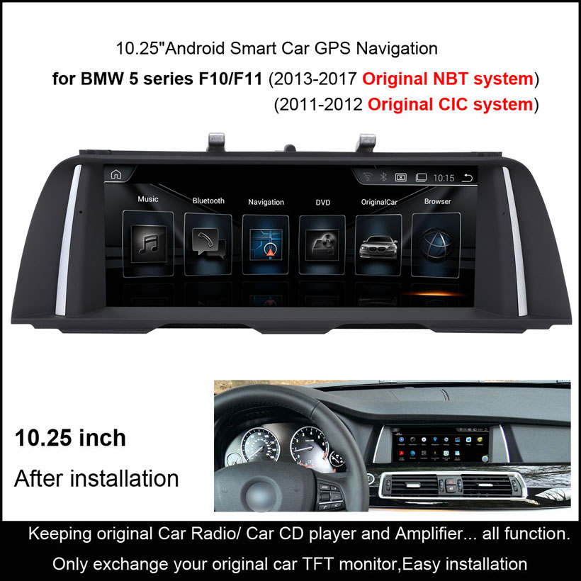 10 25 Quot Android Smart Car Gps Navigation For Bmw 5 Series F10 F11 2011 2012 Audio Stereo