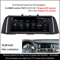 10 25 Android Smart Car GPS Navigation For BMW 5 Series F07 F10 F11 2011 2012