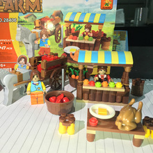 AUSINI Model building kits compatible with farmer market 3D blocks Educational model building