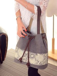 Image 3 - Borsa a tracolla da donna la nuova borsa di tela in stile nazionale e la borsa stampata retrò sono indossate dal dipartimento femminile Sen