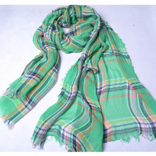 Plaid Style Women Tartan Scarf Cotton Shawls and Scarves Soft Classical Stole Brand New