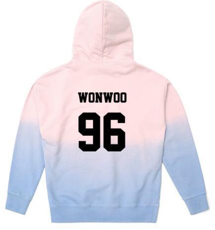 KPOP Seventeen 17 Cap Hoodie Gradient Color Sweatershirt Unisex HOSHI Coat