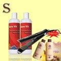 500 ML * 2 unids Uva tratamiento de queratina Brasileña enderezar producto de pelo + suavizar y alisar plancha de pelo profesional pelo