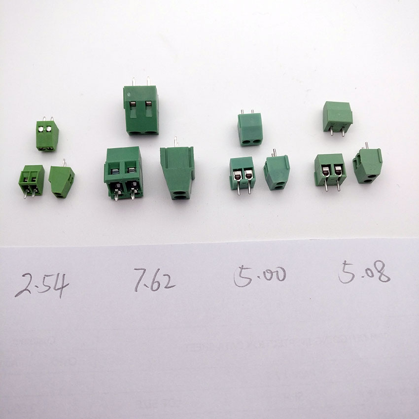 (100pcs/lot) PCB Screw Terminal Block Connector, KF128-2P pitch:5.0MM/5.08MM/2.54MM/7.62MM, Green,  KF128 2Pins pantene pantene бальзам ополаскиватель густые и крепкие 200 мл