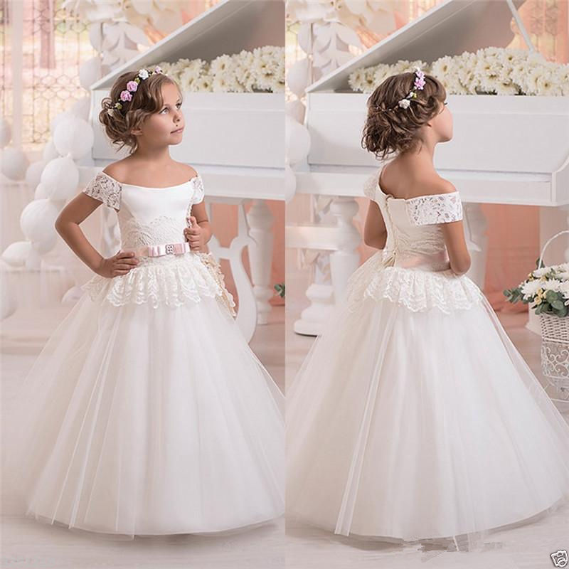 Girl Communion Party Prom Princess Pageant Bridesmaid Wedding Flower Girl Dress girl communion party prom princess pageant bridesmaid wedding flower girl dress new dress
