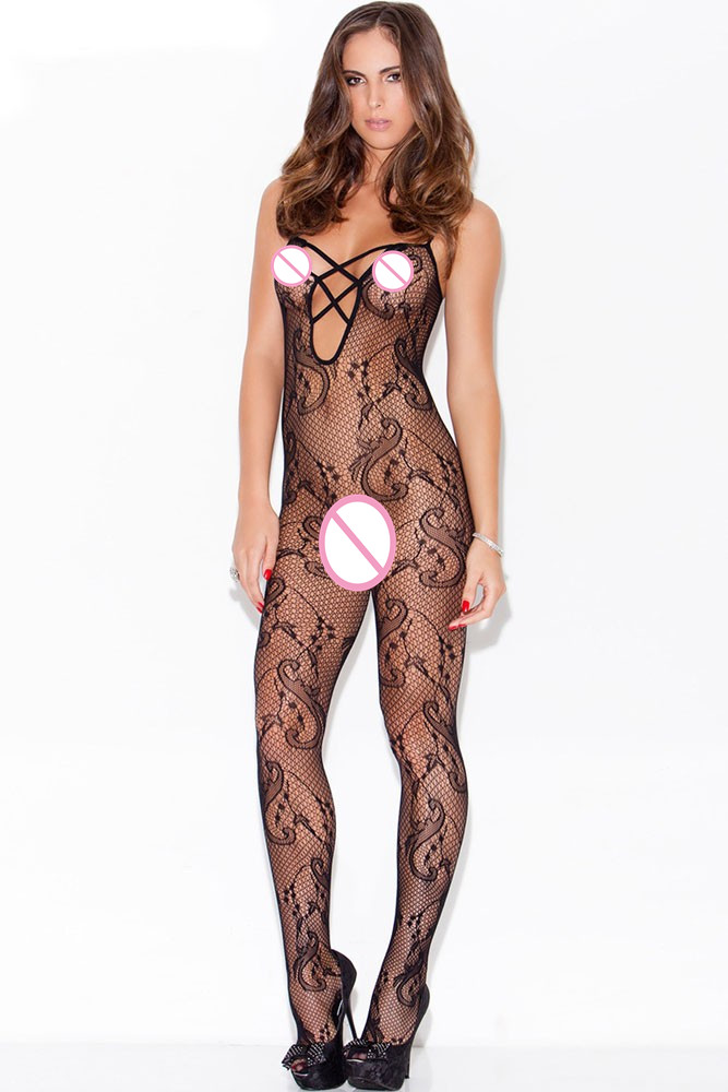 Lenceria Erotica Mujer Sexi Intimo Donna Sexy Hot Lady Sexy Sleepwear Lingerie Sexy Hot Erotic Floral Swirl Bodystocking LC79697