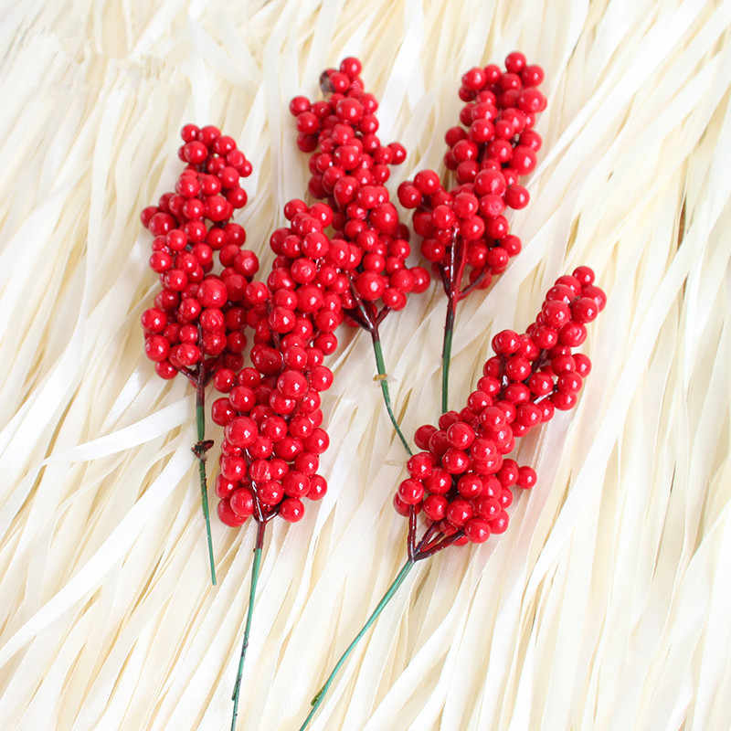 1pcs Christmas Tress Decoration Fruits Ornaments Christmas Party Supplies Red Berry Fruit  String Christmas Tree Decoration 17cm