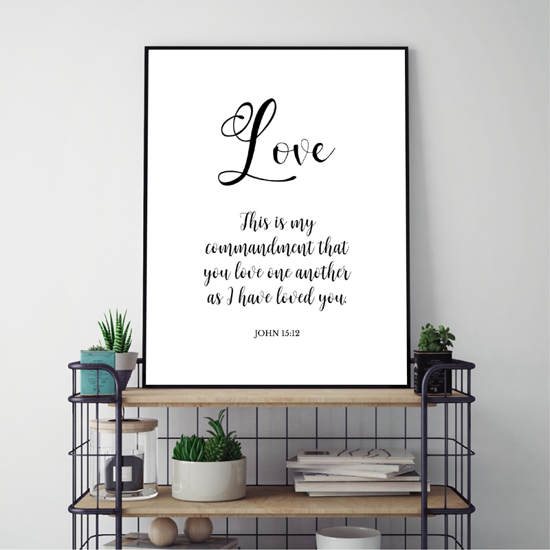 Verses Typography Poster Home Decor