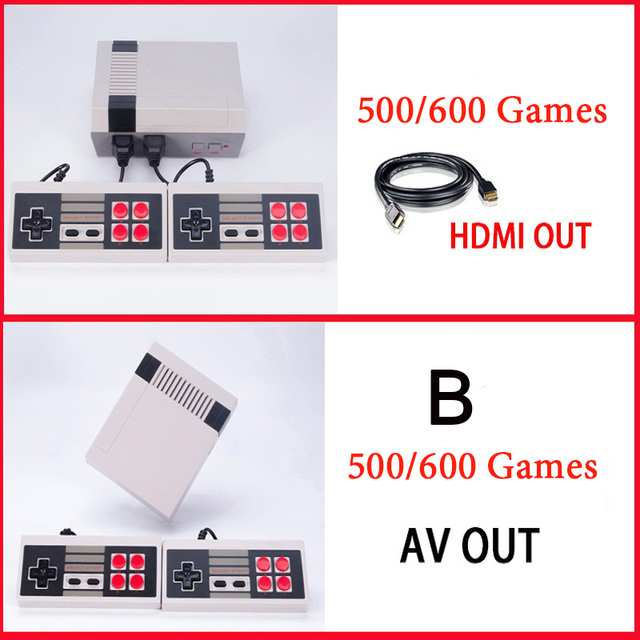 6 Styles Mini Console Support HDMI&AV TV Handheld Game Player Video Game Console To TV With 620/600/500 Built-in Games
