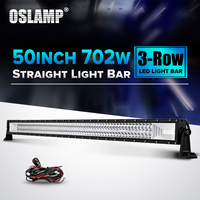 Oslamp 50 Straight LED Light Bar 702W Triple Row Led Chips Auto Led Driving Light For