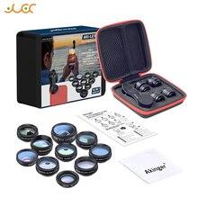 Akinger Объективы для фотоаппаратов в комплект объективов для мобильного телефона 10в1 рыбий глаз широкоугольный Макро телескоп для iphone xiaomi note samsung смартфон