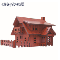 3D Puzzle DIY House Wooden Toys Puzzles For Adults Children Bois Construction Hut Model Juguetes Educativos