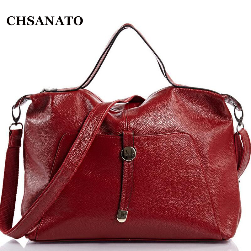 Hot Sale Fashion Lichee Pattern Women's Genuine Cow Leather Big Handbag Shoulder Bags Lady Sling Bag