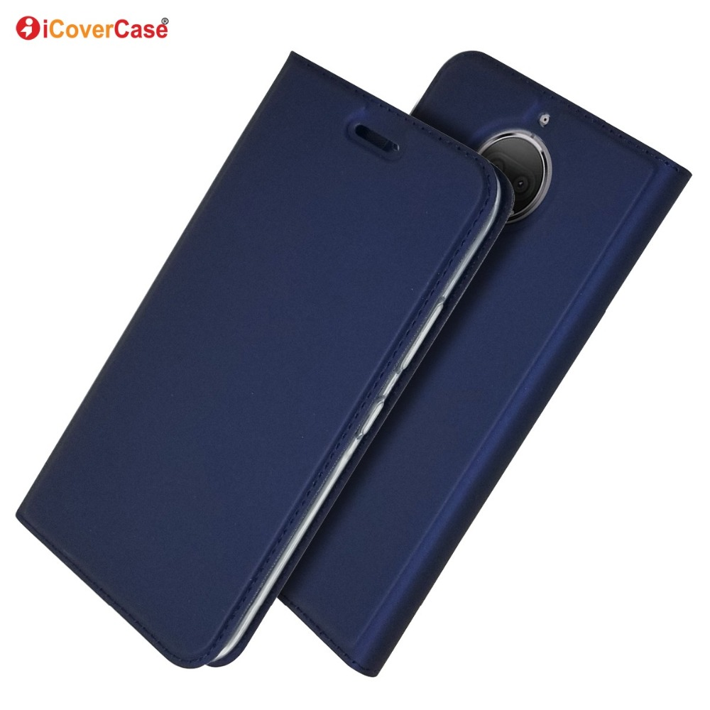 Case Cover Motorola Moto G5s Plus Magnetic For G6 Ultra-Thin Wallet Flip-Stand