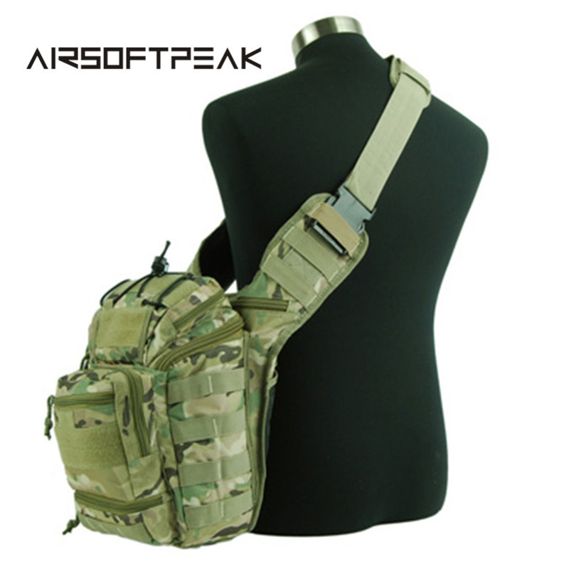 ФОТО Hunting Hiking Shoulder Chest Bag Tactical Molle Cross Body Bag Utility Outdoor Waist Pouch Pack Colossus Versipack