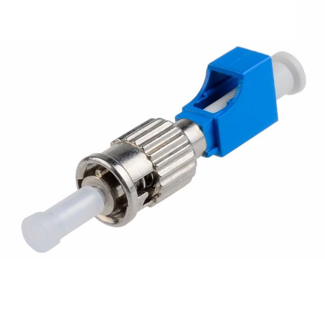 5 UNIDS adaptador de Conector de fibra Óptica adaptador LC-ST ST-LC Macho-Hembra Adaptador Híbrido De Fibra Óptica acoplador De Fibra Envío gratis