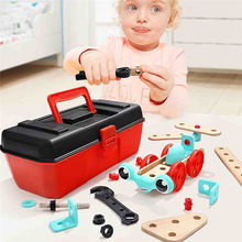 Educational Toy Set Children Combination Disassembly Toolbox Wooden Toy Kids Variety Shape Screw Multi-Function Repair Tool Toy(China)