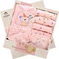 Algodón recién nacido del bebé ropa niños ropa de bebé niña trajes de la ropa interior ropa de bebé sombrero swaddle manta ropa bebe niña