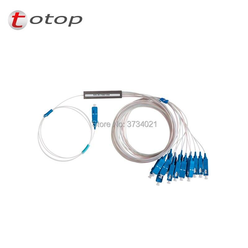 Free Shipping SCUPC 1X16 PLC Singlemode Fiber Optical splitter FTTH PLC Steel tube type SCUPC1x16 PLC optical fiber splitter