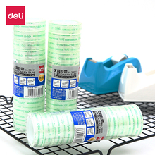 Deli 12pcs/pack Transparent Tape Hangings Clear Sealing Sticky Rolls Home Office Packing School Stationery Adhesive Tape 1.2mm недорого