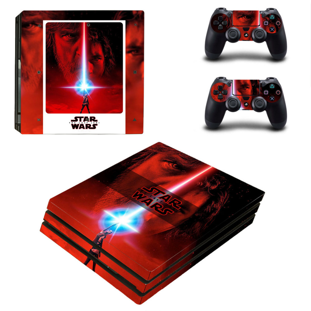 Star Wars The Last Jedi PS4 Pro Skin Sticker For Sony PlayStation 4 Pro Console and 2 Controllers PS4 Pro Skin Stickers Decal
