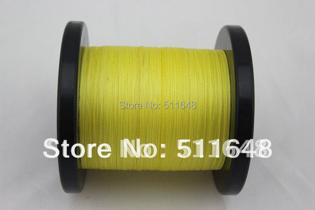 Free Shipping 1000M/PCS 20LB  YELLOW PE Braid Fishing Line Extreme Strong