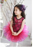 free shipping New Girl lace Ballet Dress Tutu Leotard Party Costume Bow Skate dress Beautiful Style