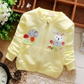 2016 Spring Casual Cartoon Girls Cotton Rabbit Jackets Cardigan Baby kids Infant Long Sleeve Children Outwear S2711