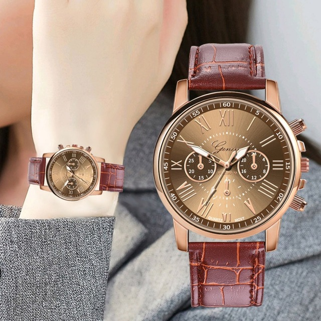 Women Leather Luxury Watch